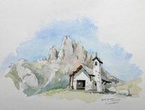 Plein, Luft, Aquarellmalerei, Tirol