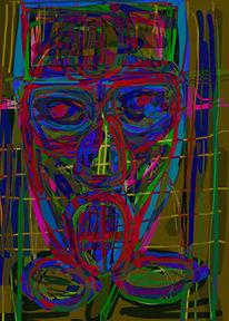 Malerei, Figural, Digital, Digitale kunst
