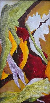 Malerei, Acrylmalerei, Farben, Warm