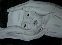 Zeichnung, Ruschig, Baby, Portrait