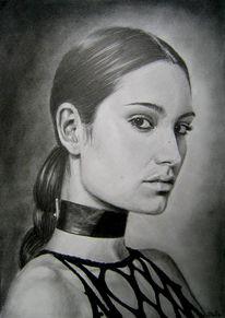 Helisartpage, Portrait, Zeichnung, Ruschig