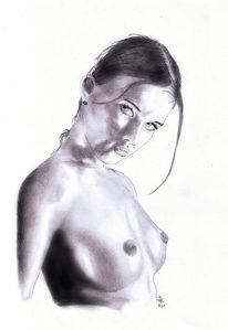 Zeichnung, Akt, Zeichnungen, Portrait