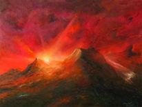 Alpen, Berge, Landschaft, Malerei