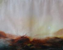 Isar winter fluss, Malerei, Dezember, 2012