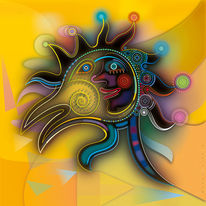 Antrieb, Gelb, Kunstdruck, Lebewesen