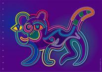 Grafik, Fisch, Farben, Digital