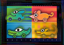 Grafik, Farben, Tiere, Funtasy