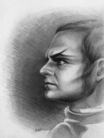 Grafit, Portrait, Dunkel, Comte