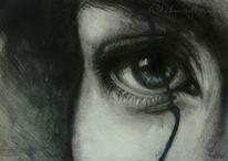 Grafit, Blau, Vergehen, Augen
