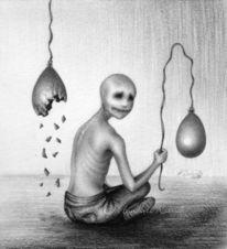 Surreal, Bleistiftzeichnung, Malerei