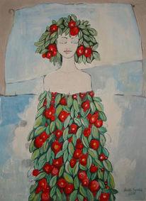 Malerei, Menschen, Frühling, Mädchen