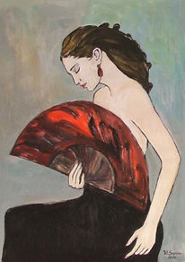 Frau, Malerei, Mädchen, Figural