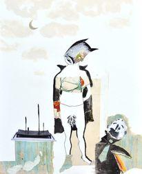 Schrei, Mond, Umhang, Malerei
