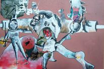 Schrei, Baselitz, Astronaut, Malerei