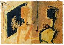 Malerei, Menschen, Frau, Spiegel