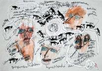 Gesicht, Tiere, Malerei