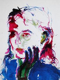 Jugend, Nachdenklich, Frau, Portrait