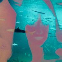 Fische, Gesicht, Licht, Wasserwesen