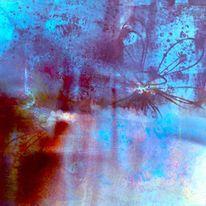 Flügelwesen, Nacht, Wald, Spiegelung