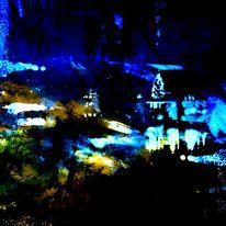 Nacht, Weihnachtsbaum, Licht, Himmel