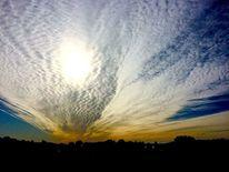 Wolkenformation, Sonne, Himmel, Silhouetten