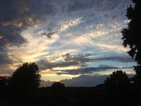 Himmelwolken, Abendleise, Lichtschatten, Fotografie