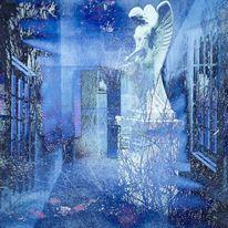 Engel, Garten, Ruine, Digitale kunst