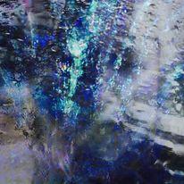 Gesicht, Regen, Farben, Digitale kunst