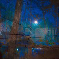 Ruine, Mond, Tor, Digitale kunst