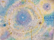 Faden, Rechteck, Spirale, Malerei