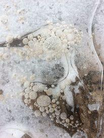 Luftblasen, Eingeschlossen, Wintermalerei, Eis