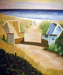 Malerei, Landschaft, Dünen
