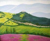 Malerei, Landschaft, Frei