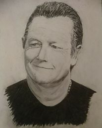 Skorpion, Kohlezeichnung, Portrait, Zeichnung