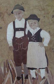 Lederhose, Intarsienbilder, Tracht, Junge