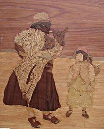 Lama, Intarsienbilder, Alles holz, Inka