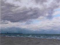 Malerei, Landschaft, Ostsee, Strand
