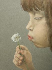 Pastellmalerei, Malerei, Figural, Mädchen