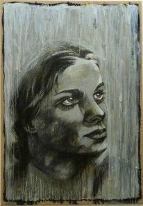 Struktur, Leben, Portrait, Frau