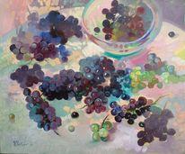 Weintrauben, Ölmalerei, Malerei