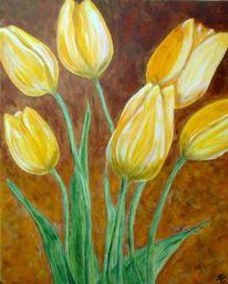 Figural, Strauß, Gelb, Malerei