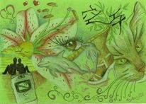 Flüssig, Lilie, Schuhe, Meer