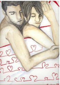Figural, Zweisamkeit, Paar, Malerei