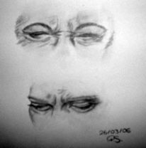 Figur, Übungsarchiv, Zeichnungen, Augenblick