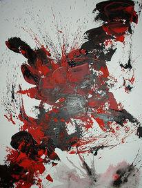 Durcheinander, Chaos, Energiefluss, Malerei