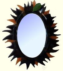 Spiegel, Sonne, Fusingglas, Kunsthandwerk