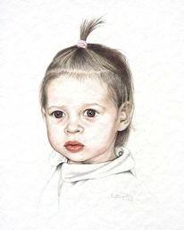 Portrait, Figural, Menschen, Aquarellmalerei