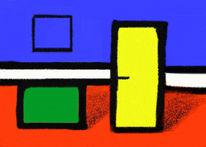 Abstrakt, Digital, Willkommen, Tür