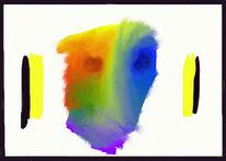 Gesicht, Abstrakt, Digital, Digitale kunst