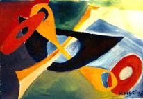 Abstrakt, Malerei, Komposition